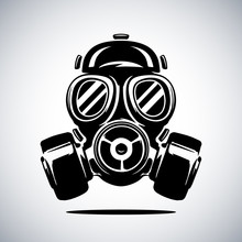 Gas Mask Vector Illustration I...