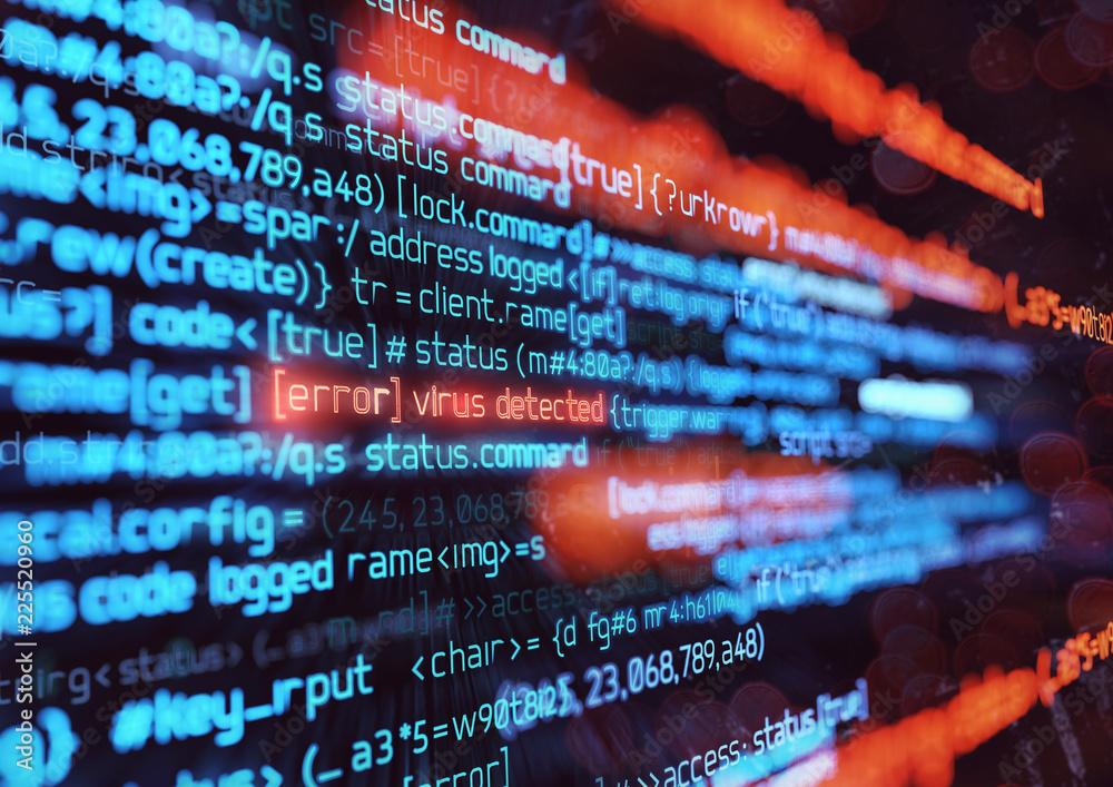 Fototapeta Computer Virus Attack Background