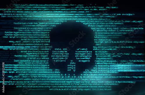 Fotografija Ransomware And Code Hacking Background
