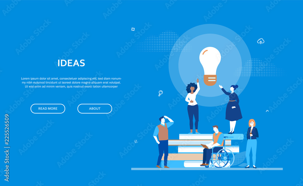 Fototapety, obrazy: Bright ideas - flat design style colorful banner