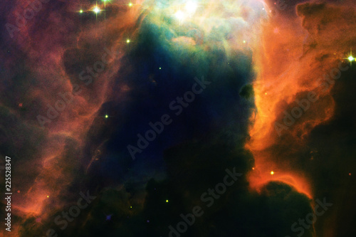 The Cone Nebula in outer space. Elements furnished by NASA