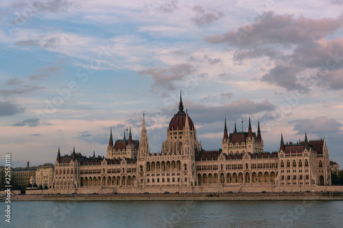 Hungarian Parliament and Danube river in Budapest, Hungary