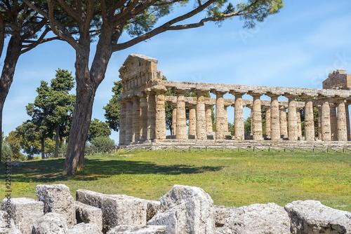 Fotomural Temple of Athena (Minerva) in Poseidonia (Paestum), Campania, Italy
