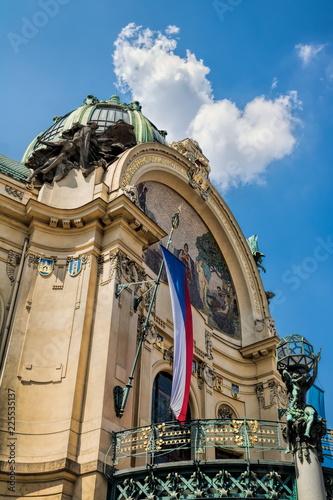 Staande foto Praag Prag, Gemeindehaus