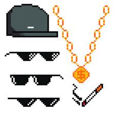 Boss Or Gangster Pixelated Sun...