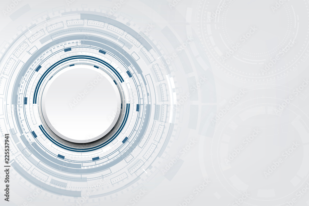 Abstract white circle with various technological design,vector illustration.