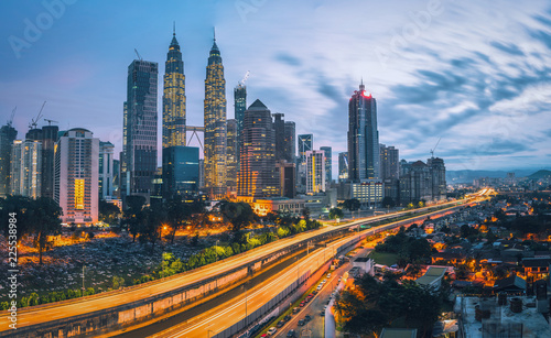 Fototapety, obrazy: Cityscape of Kuala lumpur city skyline at sunrise in Malaysia.