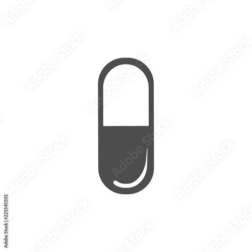 Stampa su Tela Pill icon. Medical drug pill. Vector illustration, flat design.