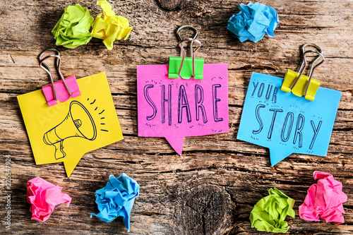 Photo Post-it note : share your story