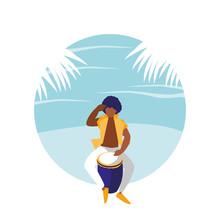Man Playing Bongo Drum Avatar ...