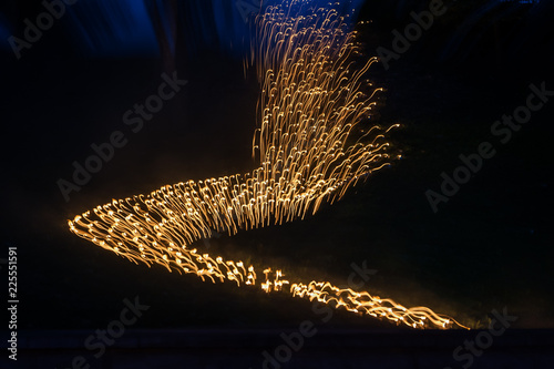 Photographie  Light painting abstract background