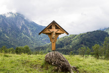 Christian Wayside Shrine In The Allgau. Bavaria. Germany.