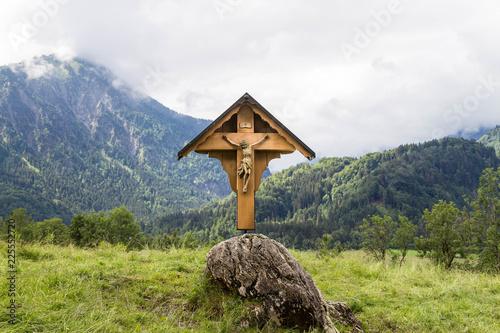 Fotografie, Obraz Christian wayside shrine in the Allgau. Bavaria. Germany.
