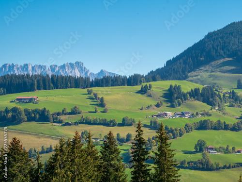 In de dag Pistache austrian mountain landscape view