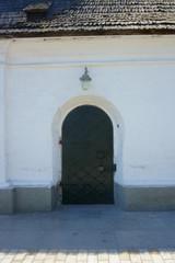 antique metal door, history