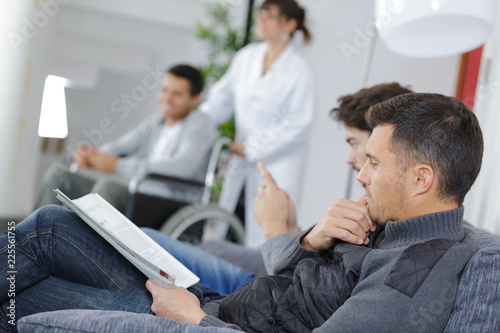 Fotografie, Obraz  hospital waiting room