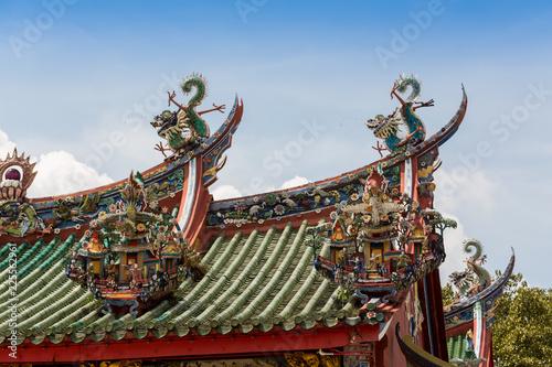 Deurstickers Bedehuis Taipei Confucius Temple in Taipei, Taiwan dates from 1879.