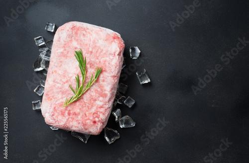 Beef freezer on ice