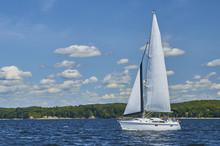 Sailboat On Lake Champlain 312