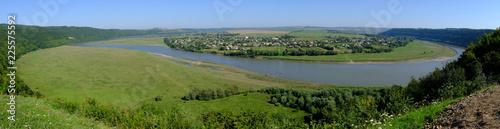 Obraz Ukraina - piękny widok na zakola Dniestru - fototapety do salonu