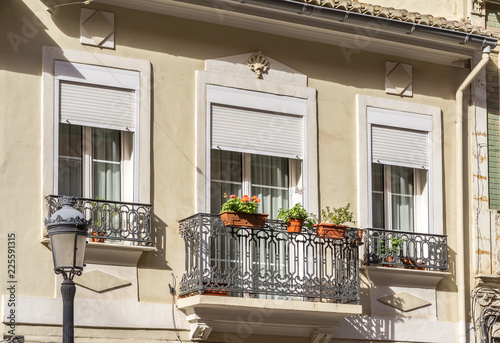 Architecture Of Classical Building Facade On Old House Exterior Of