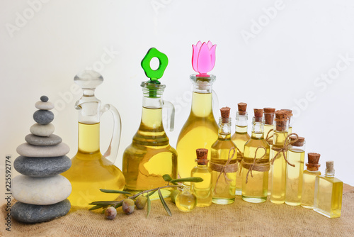 Fotobehang Aromatische benefits of olives, healthy foods and therapy