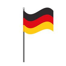 Germany Flag National Symbol Isolated