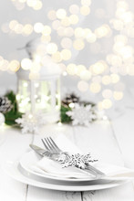 Christmas Or New Year Table Setting