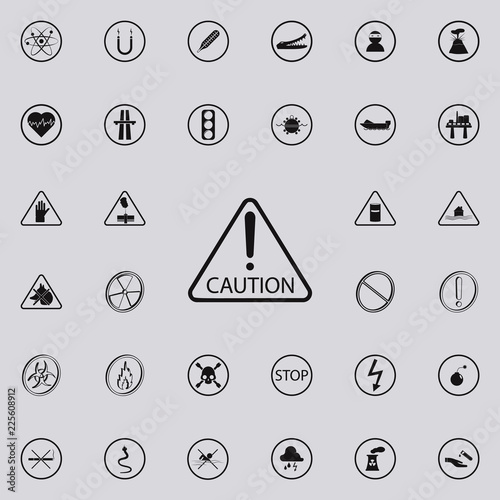 Caution Sign Icon Warning Signs Icons Universal Set For Web And