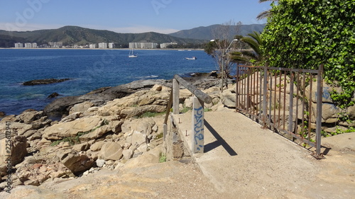 Landscape, rocky beach and seaside