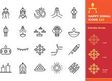 Diwali Hindu Festival Elements...