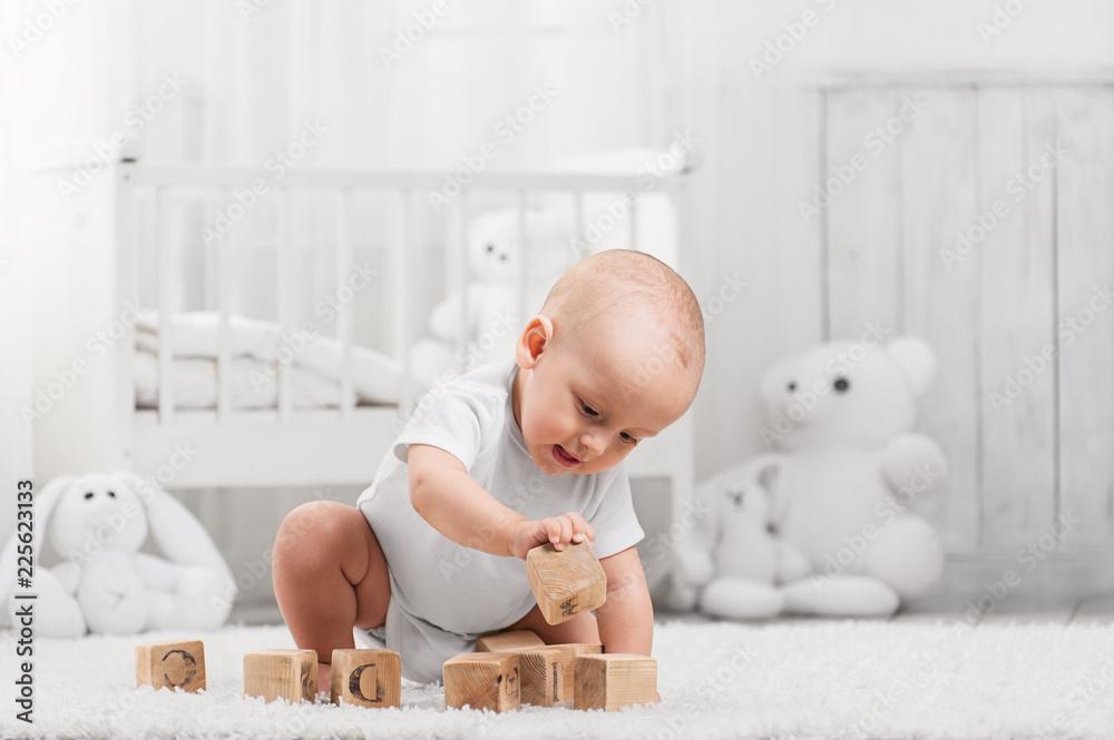 Fototapety, obrazy: Portrait of a happy baby