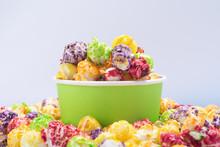 A Bucket Of Multi-colored Popc...