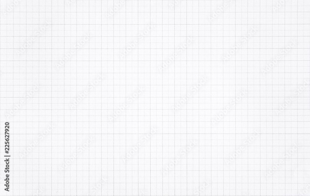 Fototapety, obrazy: White paper with grid line pattern background.