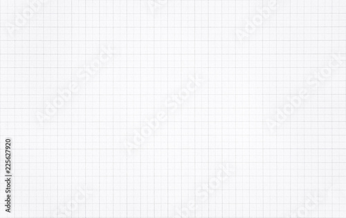 Fotomural  White paper with grid line pattern background.