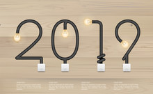 2018 Year - Abstract Light Bul...