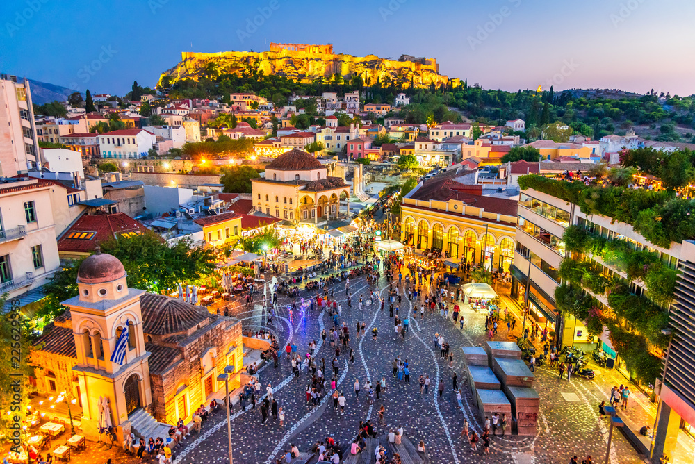 Athens, Greece - Monastiraki Square and Acropolis <span>plik: #225629353 | autor: cge2010</span>