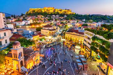 Atena, Grčka - Trg Monastiraki i Akropola