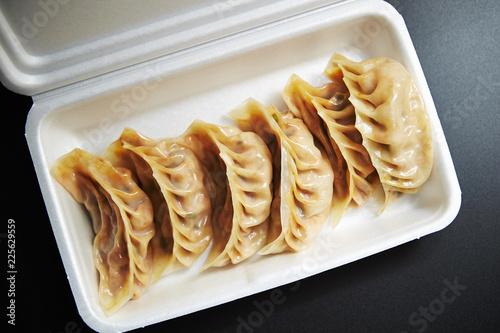 Spicy kimchi dumpling