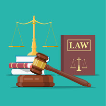 Law And Justice Set Icon,