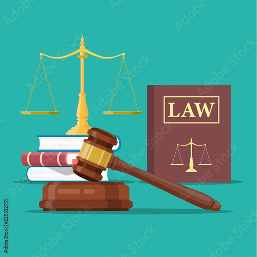 Fotografija Law and justice set icon,