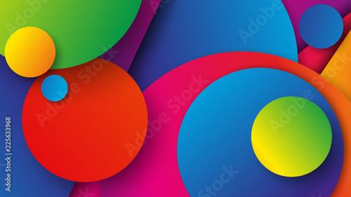 kolorowe koła tło wektor - fototapety na wymiar