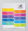 Abstract 10 steps infographic element chart for data presentation. EPS 10.