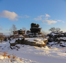 Brimham Rocks In Snow