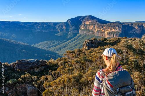 Vászonkép Scenic views to Mount Banks Blue Mountains Australia