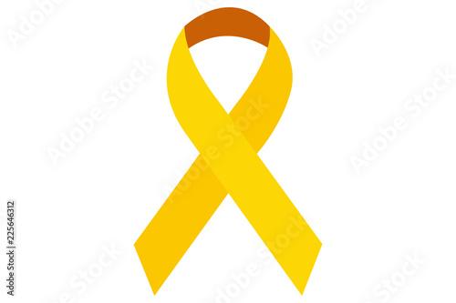 Photo Lazo amarillo por el cáncer en los niños.