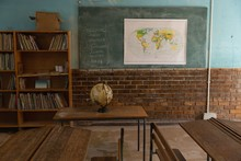 Globe In The Classroom At School