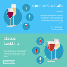 Summer Classical Cocktails On Web Posters Drinks