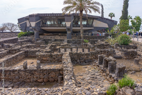 view of Peter's house in Capernaum village, Galilee, Israel Wallpaper Mural