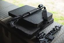 Machine Gun In Military Training